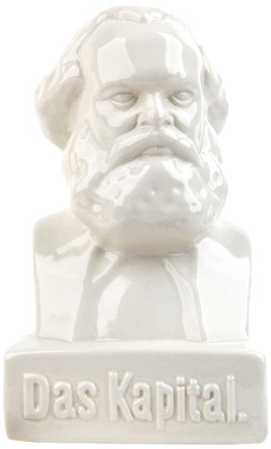 Kikkerland Karl Marx Money Bank Salvadanaio, Ceramica, Bianco, 11x11x9 cm