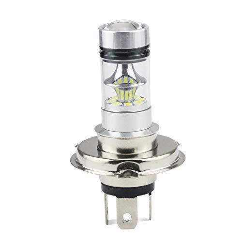 RJJ Wyfan 12V 24V H4 100W 3030 6500K LED Luces De Niebla LED Super Brillante Lámpara Blanca Bombilla Faros Ajuste para Auto (Emitting Color : White)