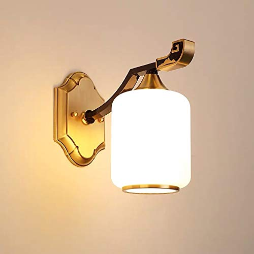 L.J.JZDY Lámpara de pared Living Room Restaurant mesita de noche Aisle Showroom de diseño cámara de personalidad creativa de cobre de la lámpara de pared de 14 x 23 x 27 cm