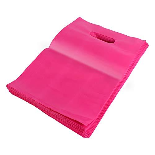 ibasenice 100Pcs Sacs de Marchandise avec Poignée - Sacs à Provisions en Plastique - Sacs de Vente Au Détail Réutilisables Et Durables pour Cadeaux Chemise Boutique