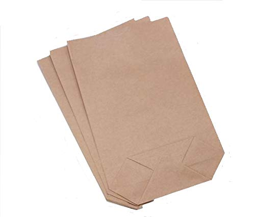 50 Stk. Papiertüten braun 14 x 22 x 6 cm mit Klebeverschluss / Kraftpapier / Natronpapier / Geschenktüten / Bodenbeutel / Partytüten / Mitgebseltüten / Mitbringseltüten / Kindergeburtstag / Hochzeit
