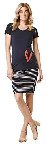 Esprit Maternity Skirt Jersey OTB YD Gonna Premaman, Multicolore (Night Blue 486), X-Small Donna