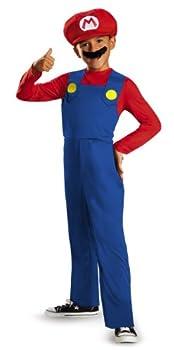 Nintendo Super Mario Brothers Mario Classic Boys Costume Large/10-12
