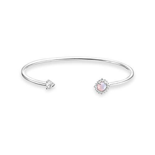 THOMAS SABO Damen Armreif Pfeil Opal-Imitation Rosa schimmernd 925 Sterlingsilber AR107-166-7