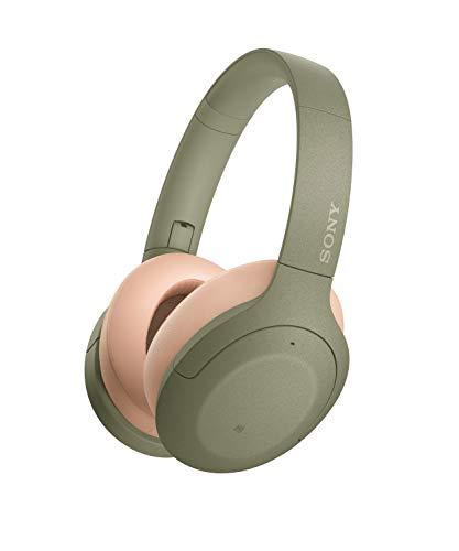 Sony WH-H910N kabellose High-Resolution Kopfhörer (Noise Cancelling, Bluetooth, Quick Attention Modus, bis zu 40 Std. Akkulaufzeit, Headset mit Mikrofon für Telefon & PC/Laptop) grün