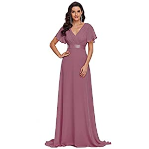 Ever-Pretty Womens Floor Length Formal Wedding Guest Dress 8 US Orchid