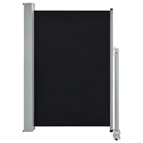 vidaXL Seitenmarkise Ausziehbar 120x300 cm Schwarz Sichtschutz Sonnenschutz