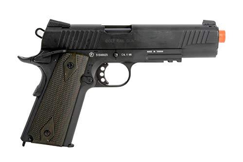 Colt 1911 CO2 Full Metal Airsoft Pistol with Adjustable Hop-Up and Blowback, 380-390 FPS, Black