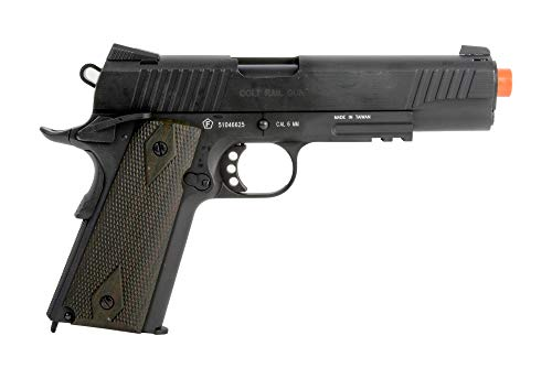 Colt 1911 CO2 Full Metal Airsoft Pistol with Adjustable Hop-Up and Blowback, 380-390 FPS, Black