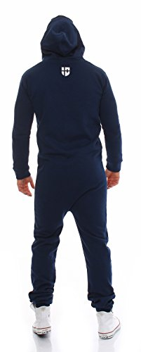 Gennadi Hoppe Herren Jumpsuit Slim Fit,blau - 3