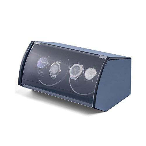 ZCYXQR Watch Winder Box 4 Uhren, Wood Shell Piano Paint Exterior, USB-Netzkabel, unabhängig gesteuerte Einstellungen, Quiet Motors Watch Winder