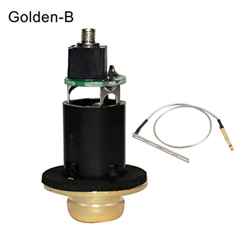 6.35mm Acoustic Guitar Endpin Output Jack Under-Saddle Piezo Pickup Stick Cable - Golden B