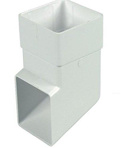 FLOPLAST 65 mm quadratisch Downipe Schuh - Weiß