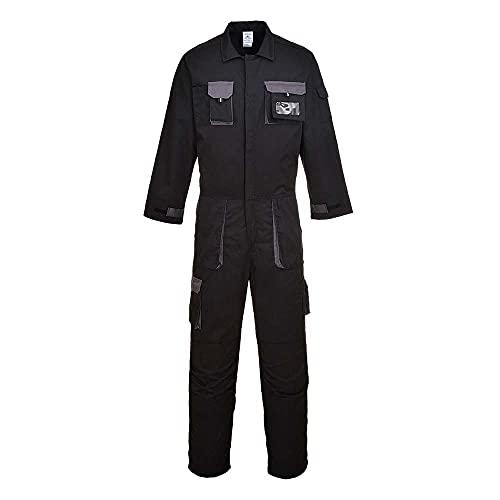 Portwest TX15BKRS Traje de Protection, Texo Contrast, S, Negro (Black)