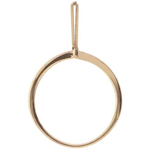 kowaku Soporte de Metal Herramienta de Anillo de Recogida Soporte de Gemas de Diamante Garra Pinzas Perlas - Oro 3.5cm