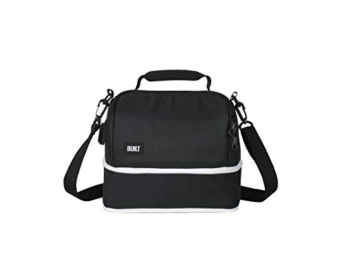 BUILT 5238350 Expandable Convertable Water-Resistant Insulated Fabric Lunch Bag, 10-Inch, Black