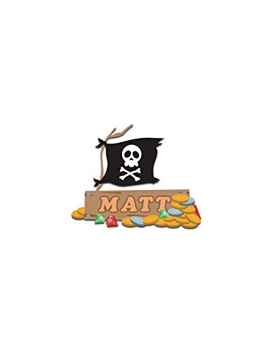 Sticker Panneau à personnaliser : drapeau pirate - Format : 30 x 24 cm