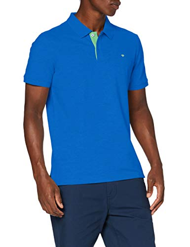 TOM TAILOR Herren Basic Polo_1016502 Poloshirt, Victory Blue, XXL EU