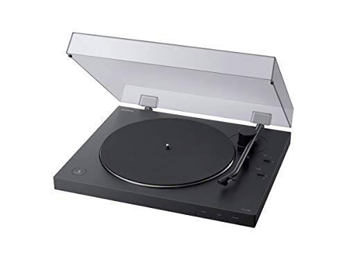 Sony PS-LX310BT Bluetooth Plattenspieler (Phono Vorverstärker, Auto-Play Funktion, Aluminium Plattenteller) Schwarz
