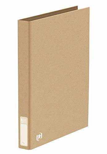 Oxford 100201476 Ringbuch Touareg in beige im Format DIN A4 aus recyclefähigem TCF-Papier mit 2 Ringen und einer Rückenbreite von 3,5 cm
