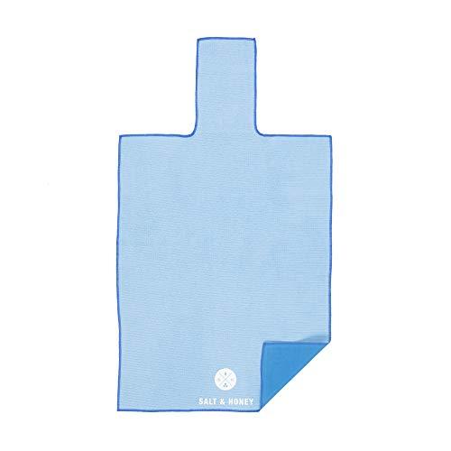 Salt & Honey Non-Slip Pilates Reformer Mat Towel (Blue)