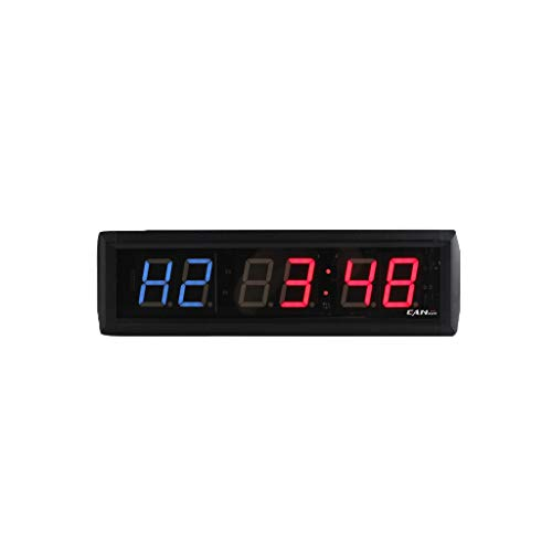 GAN XIN 1.8 Inch 6 Digital LED Interval Wall Clock Crossfit Gym Timer Sport Gym Exercise Training Timer Fitness Boxing Timer