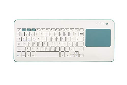 Silver HT - Teclado Inalámbrico con Touchpad para Smart TV, Smartphones, Tablets, iPhone, iPad y Videoconsolas - Blue