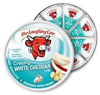 The Laughing Cow, Creamy White Cheddar Flavor, 6 Oz, 8 .75 Oz Wedges (2 Pack) (White Cheddar)