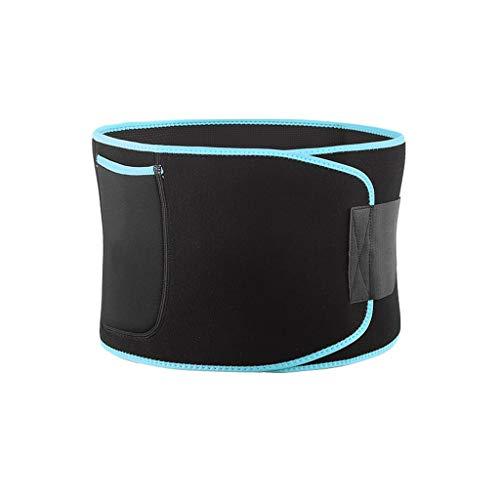 XuYuanjiaShop Waist Trimmer Belt Waist Trimmer - Accelerates Weight Loss, Fat Burning, Sauna Slimming Belt, Best Abdominal Trainer for Men & Women Abdominal Trainer (Color : A, Size : M)