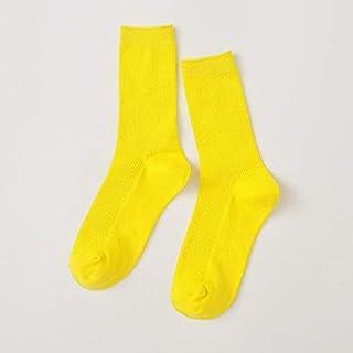 4 Pares de Calcetines Coloridos de algodón Harajuku Retro para Mujer Calcetines Divertidos Color Caramelo Dulce Púrpura Azul Amarillo Rosa Calcetines navideños de diseñador