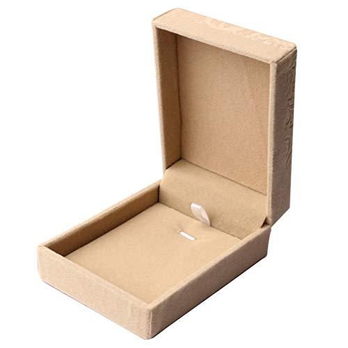 nuoshen Jewelry Gift Box, Velvet Necklace Pendant Gift Organizer Storage Boxes