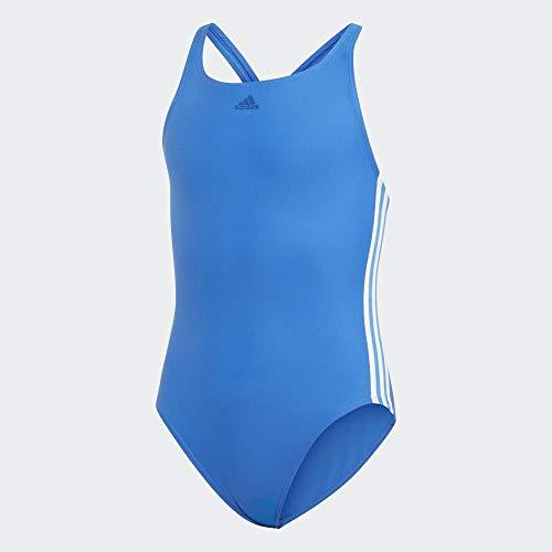 adidas Mädchen Athly 3-Streifen Badeanzug, Blue, 164