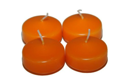 Schwimmkerzen in der 28er Box in 20 Farben (orange)