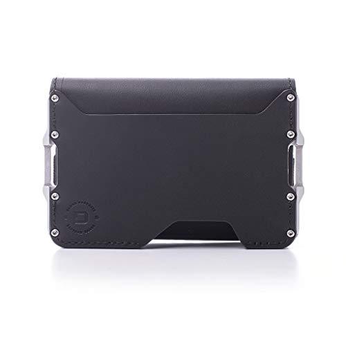 Dango D03 Dapper Bifold EDC Wallet - Made in USA - Genuine Leather, Slim, Minimalist, Metal, RFID Blocking