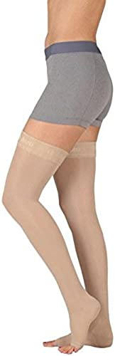 Juzo Basic Thigh High 15-20mmHg Closed Toe, IV, beige by Juzo