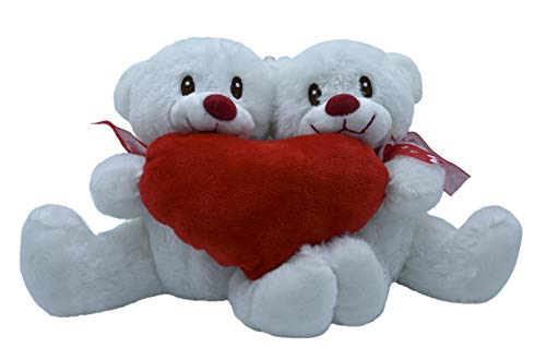 ML Pareja Osos de Peluche, Corazón Amor, Regalo para el Dia de los Enamorados