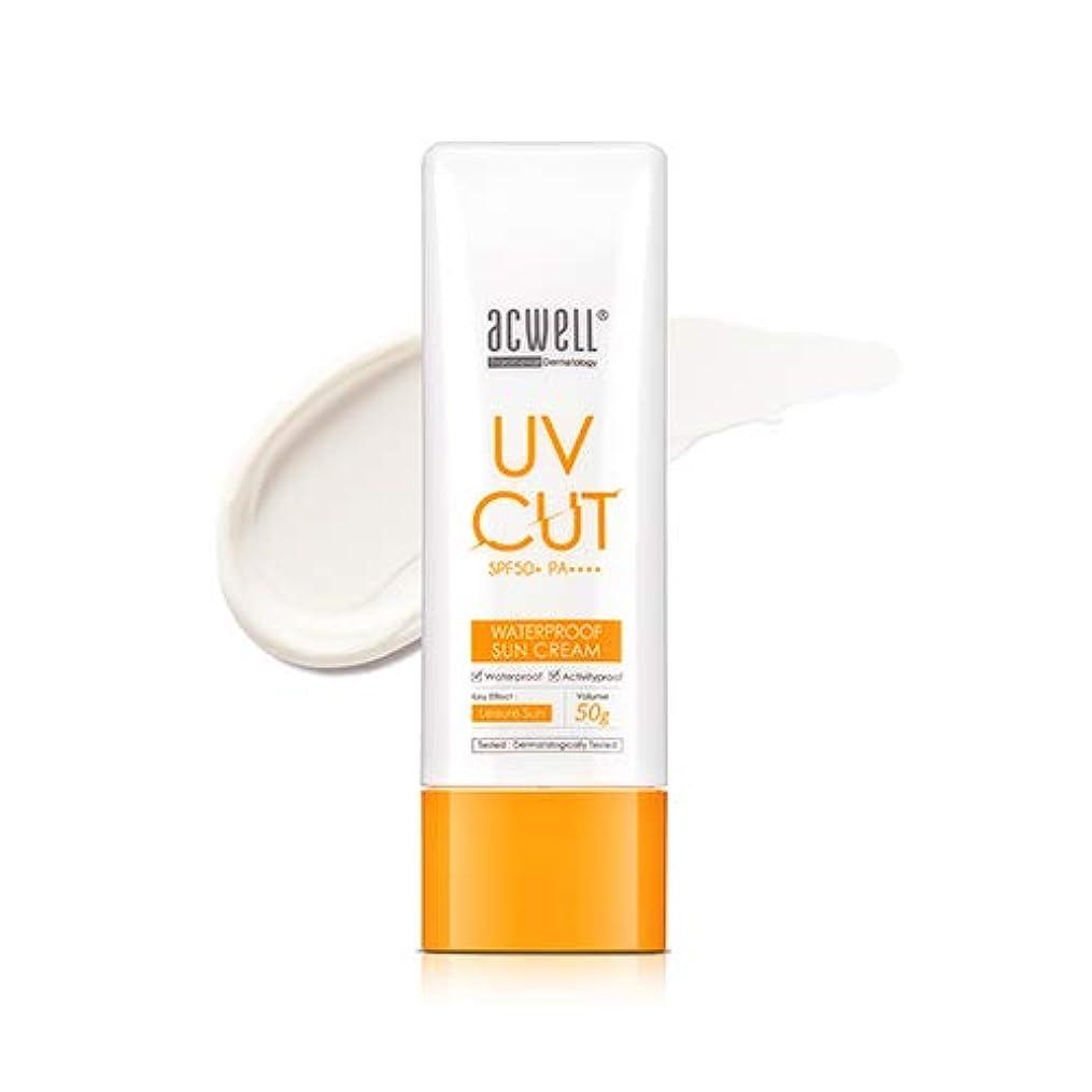 金曜日悪性のメンタルアクウェル ACWELL UV Cut Waterproof Sun Cream ウォータープルーフ サンクリーム 50g, SPF50+ PA++++ [Made in Korea]