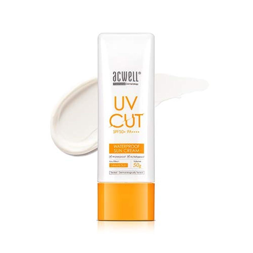 あいまい食欲管理するアクウェル ACWELL UV Cut Waterproof Sun Cream ウォータープルーフ サンクリーム 50g, SPF50+ PA++++ [Made in Korea]