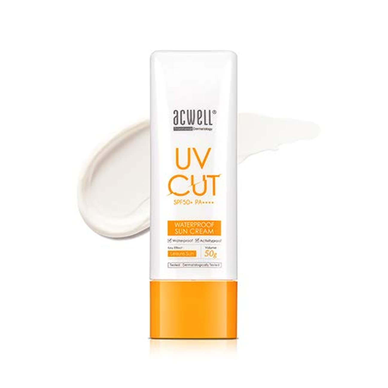 式修正ブラウンアクウェル ACWELL UV Cut Waterproof Sun Cream ウォータープルーフ サンクリーム 50g, SPF50+ PA++++ [Made in Korea]