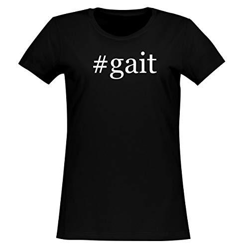#gait - Women's Soft & Comfortable Hashtag Junior Cut T-Shirt, Black, X-Large