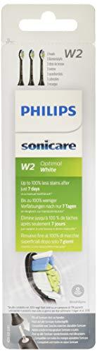 Philips HX6063/11 - Philips Sonicare HX6063/11 - Verpakking met 3 reservestoppen Optimaal Wit Zwart Standaard RFiD zwart