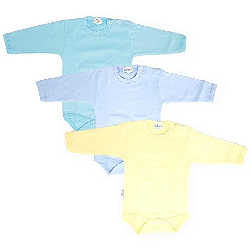 Body de manga larga para bebé y niño, para niños y niñas, de algodón 100 % natural, equipamiento para bebé Juego de 3 unidades 6-9 Meses