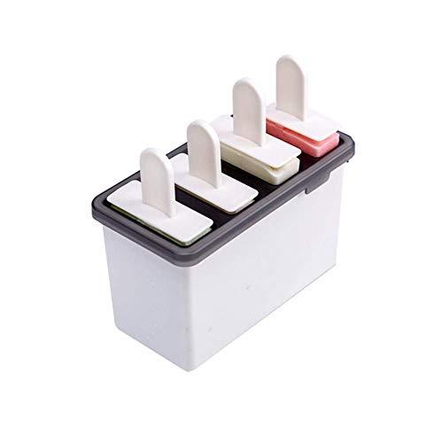 YUX Ice Lolly Makers mit Platics-Deckel, Ice Lolly Moulds, Einfach aufzutauendes EIS am Stiel-Formen-Set, Weiß