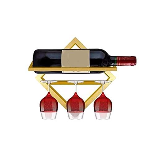 Soporte de copa de vino montado en la pared de la botella de bebida titular de la cocina invertida taza almacenamiento rack hogar gabinete bar rack