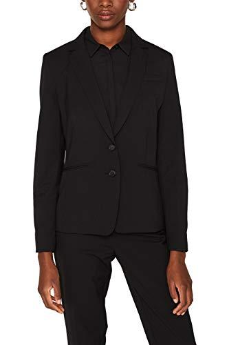 ESPRIT Collection Damen 999Eo1G803 Anzugjacke, Schwarz (Black 001), Herstellergröße: 44