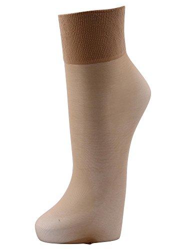 FALKE Damen Pure Matt 20 DEN W SO Socken, Beige (Golden 4699), 39-42