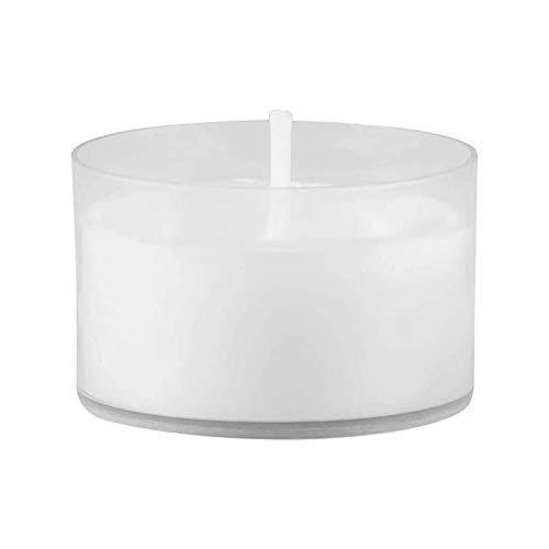 Tea Lights Candles, Clear Cup Candles White Tealights Candle, Long Burning Candles, Small Scented Candles in Bulk for Home, Valentines, Christma, Birthday, Party (1.5H, 50Pcs)