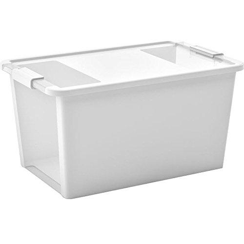 Kiss Kis Aufbewahrungsbox Bi Box 40 Liter in weiß-transparent, Plastik, 55x35x28 cm