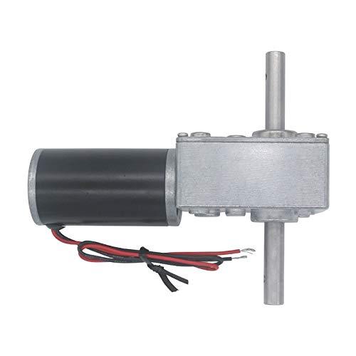 WNJ-TOOL, 1pc DC 12V 24V Getriebeuntersetzung² Motor 12-470RPM Worm Reversible High Torque Turbo Motor Mini-Metall-Elektro-Getriebe Reducer Getriebe (Farbe : 160 RPM, Größe : 24V)