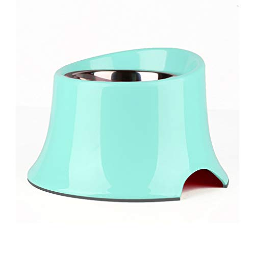 JINAXIN Dog Bowl, Dog Bowl, Large Slanting Bowl, Suitable For Pets (color : GREEN, Size : S)
